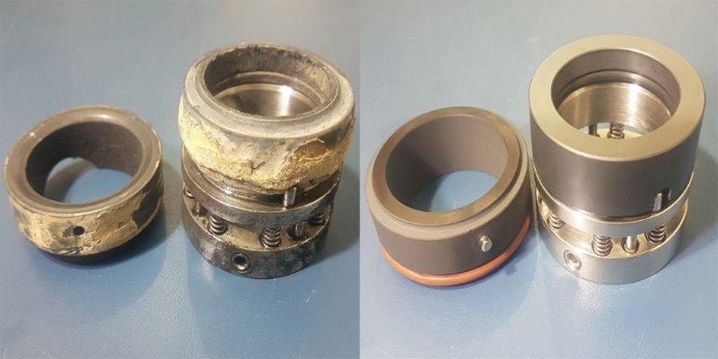 Conserto de selo mecânico